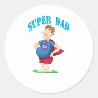 Super Dad Classic Round Sticker