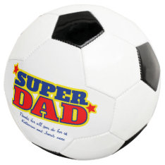 Super Dad Custom Message Red Blue Yellow Ball at Zazzle