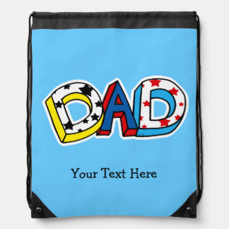 super dad - customized drawstring bag