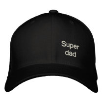 Super dad embroidered baseball cap