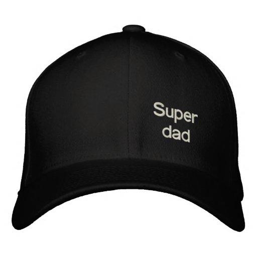 Super dad embroidered baseball cap