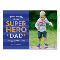 Super Dad Father's Day Photo Card