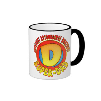Super Dad Father's Day Ringer Coffee Mug