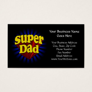 Super Dad, Fresh Red/Yellow/Blue Fathers Day Business Card