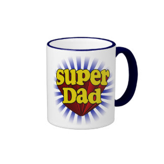 Super Dad, Fresh Red/Yellow/Blue Fathers Day Mug