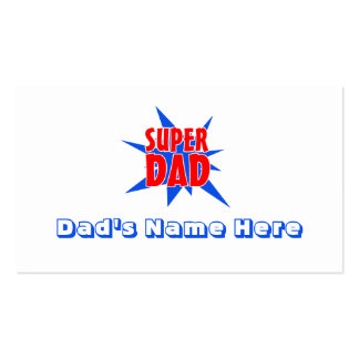 Super Dad Funny Father's Day Business Cards