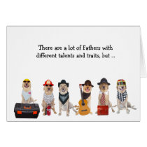 Super Dad Funny Lab/Dog Card