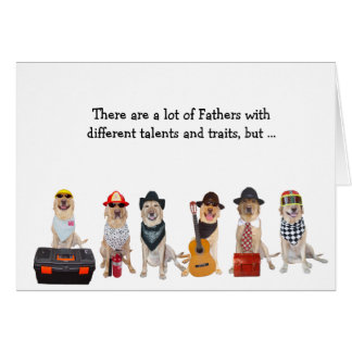 Super Dad Funny Lab/Dog Greeting Card
