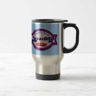 Super Dad Gifts and Super Dad Apparel 15 Oz Stainless Steel Travel Mug
