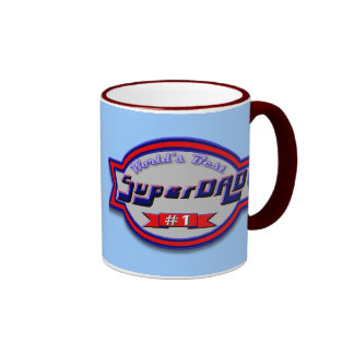 Super Dad Gifts and Super Dad Apparel Ringer Coffee Mug