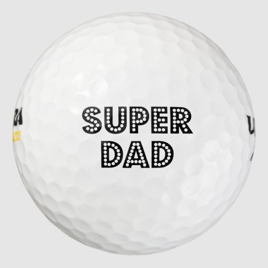 Super Dad Golf Balls