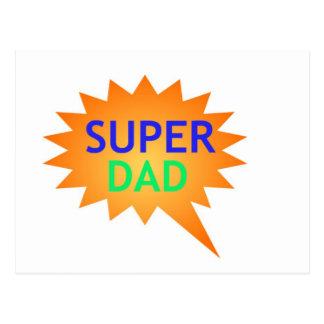 Super Dad In Color Postcard