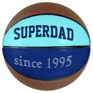 Super Dad in neon blue and dark blue Basketball