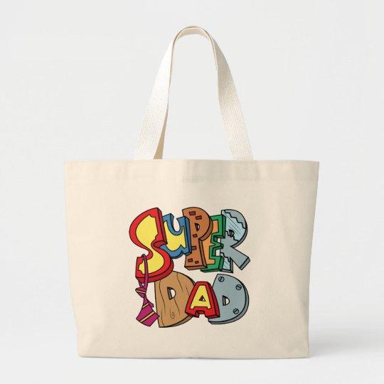Super Dad Large Tote Bag