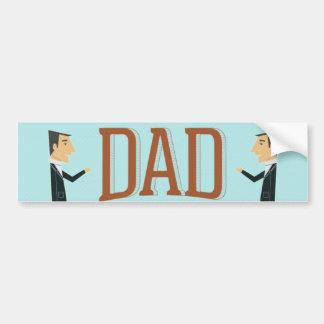 Super Dad Mustache Bumper Sticker