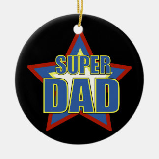 Super Dad/Photo Ceramic Ornament