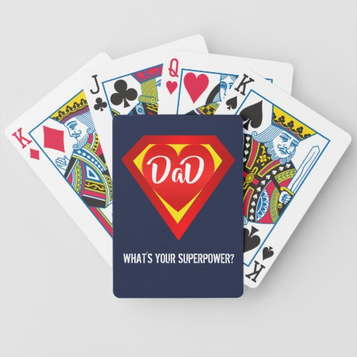 Super Dad Playing Cards