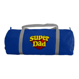 Super Dad Red Yellow Blue Father's Day Superhero Duffle Bag