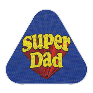 Super Dad Red Yellow Blue Father's Day Superhero Speaker