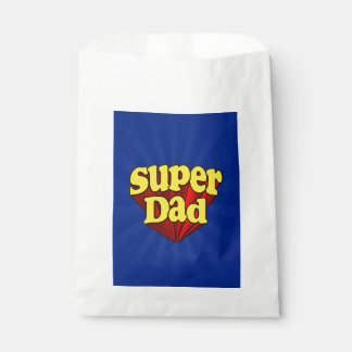 Super Dad Red Yellow Blue Father's Day Superhero Favor Bags