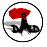 Super Dad Scribble Text With Cape Acrylic Cut Outs