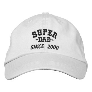 Super Dad Since Embroidered Baseball Cap