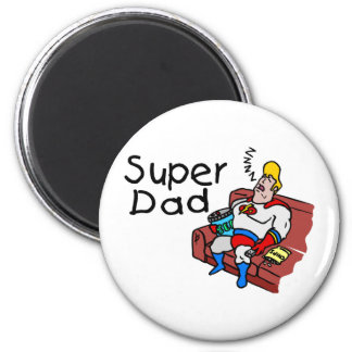Super Dad (Sleeping) 2 Inch Round Magnet