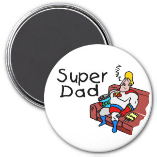 Super Dad (Sleeping) 3 Inch Round Magnet