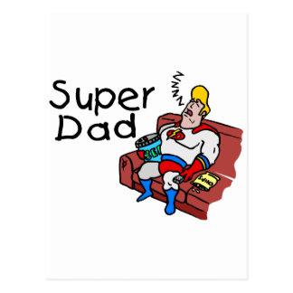 Super Dad (Sleeping) Postcard