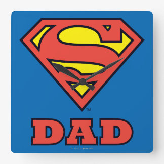 Super Dad Square Wall Clock