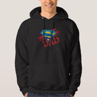 Super Dad Stripes Hooded Sweatshirt