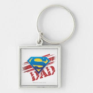 Super Dad Stripes Keychains