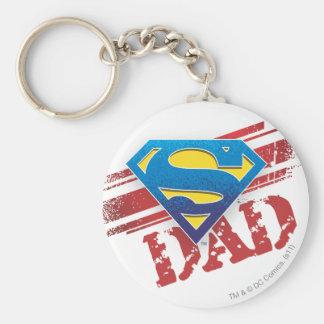 Super Dad Stripes Keychain