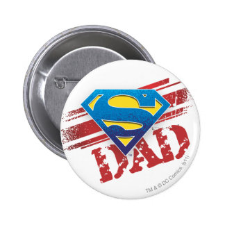 Super Dad Stripes Pinback Button