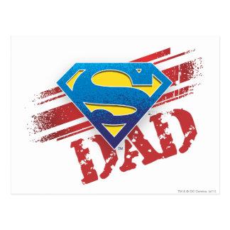 Super Dad Stripes Postcard