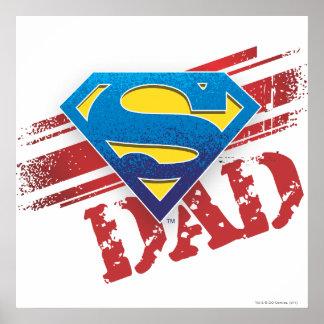 Super Dad Stripes Poster