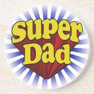 Super Dad, Superhero Red/Yellow/Blue Coasters