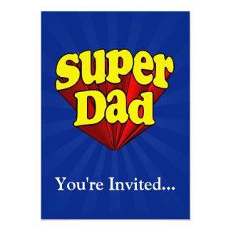 Super Dad, Superhero Red/Yellow/Blue Father's Day Card