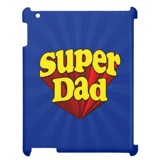 Super Dad, Superhero Red/Yellow/Blue Father's Day iPad Cover
