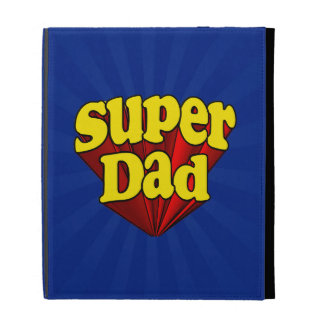 Super Dad, Superhero Red/Yellow/Blue Father's Day iPad Folio Cases
