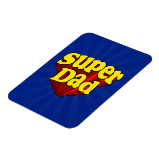 Super Dad, Superhero Red/Yellow/Blue Father's Day Magnet