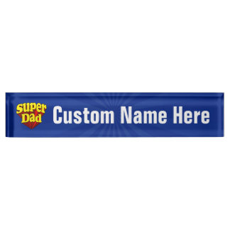 Super Dad, Superhero Red/Yellow/Blue Father's Day Nameplate