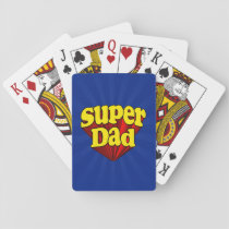 Super Dad, Superhero Red/Yellow/Blue Father's Day Playing Cards
