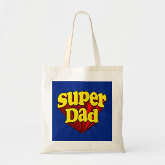 Super Dad, Superhero Red/Yellow/Blue Father's Day Tote Bag