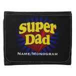 Super Dad, Superhero Red/Yellow/Blue Leather Wallet