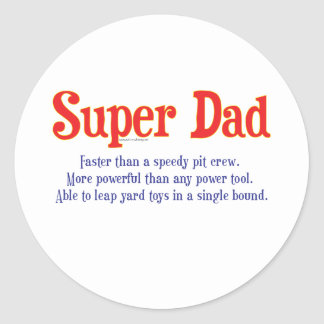 Super Dad with super powers t-shirts and gifts Classic Round Sticker