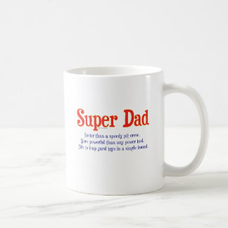 Super Dad with super powers t-shirts and gifts Classic White Coffee Mug