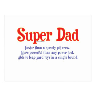 Super Dad with super powers t-shirts and gifts Postcards