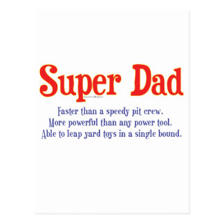 Super Dad with super powers t-shirts and gifts Postcard