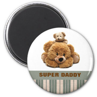 Super Daddy. Father's Day Gift Magnets 2 Inch Round Magnet
